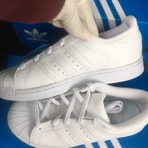 Adidas Superstar Youth size 1 white